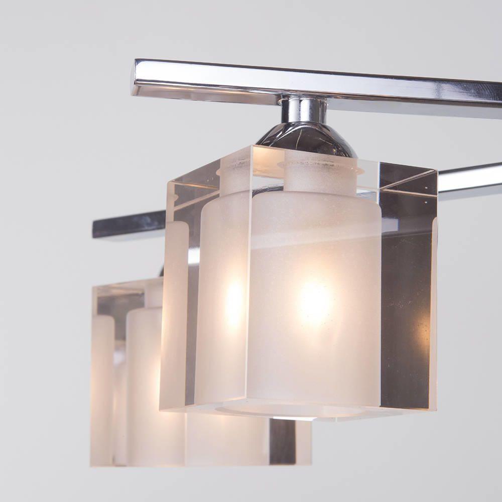 ice cube semi flush ceiling light 6 light chrome