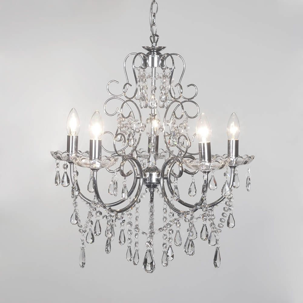 Crystal chandelier madonna 5 light dual mount chrome from litecraft victorian style inspired design shabby chic chandelier home furniture diy lighting ceiling lights aloadofball Gallery