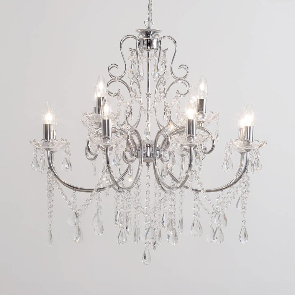 Madonna chandelier 12 light dual mount chrome from litecraft buy chandeliers online mozeypictures Choice Image