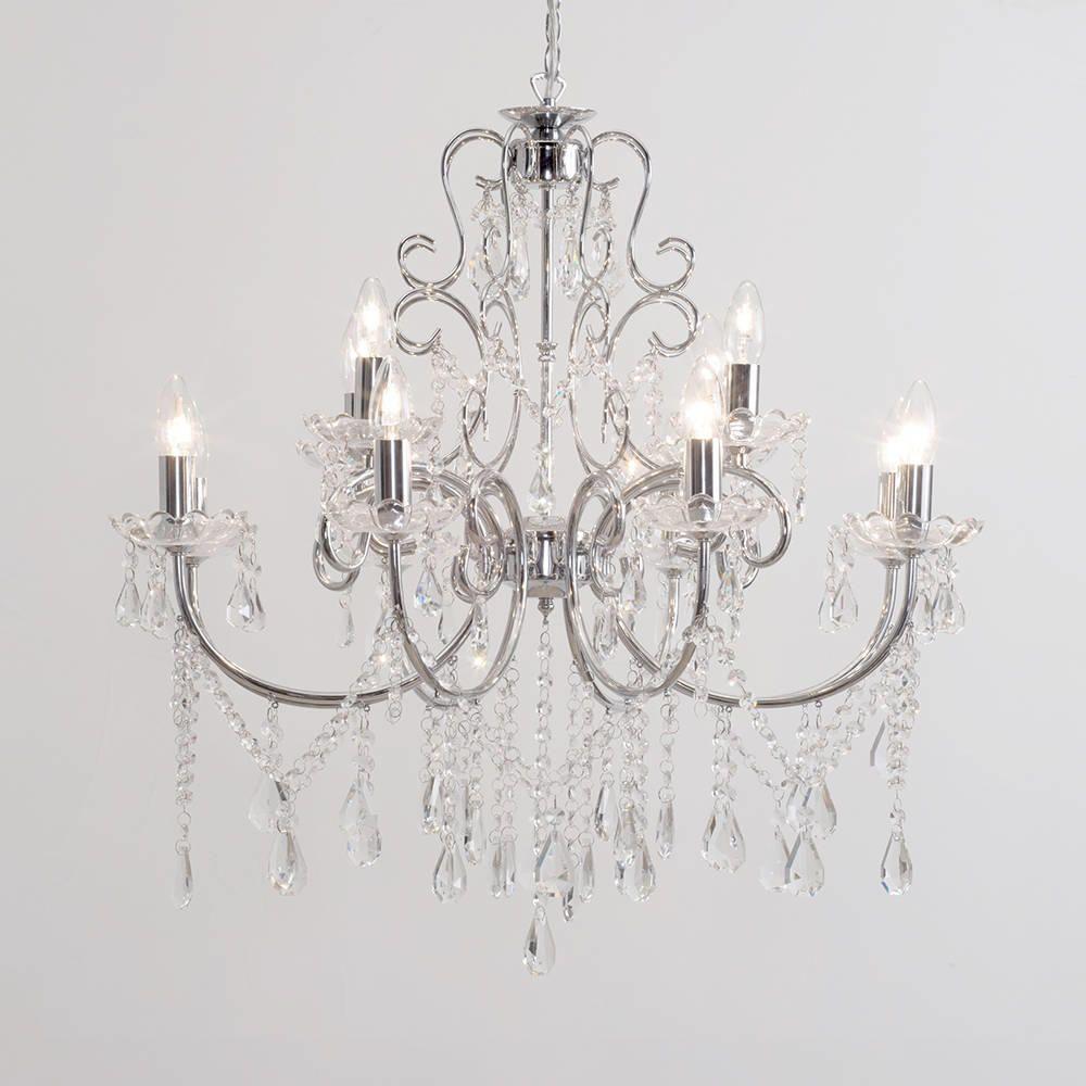 Madonna chandelier 12 light dual mount chrome from litecraft buy chandeliers online mozeypictures Gallery