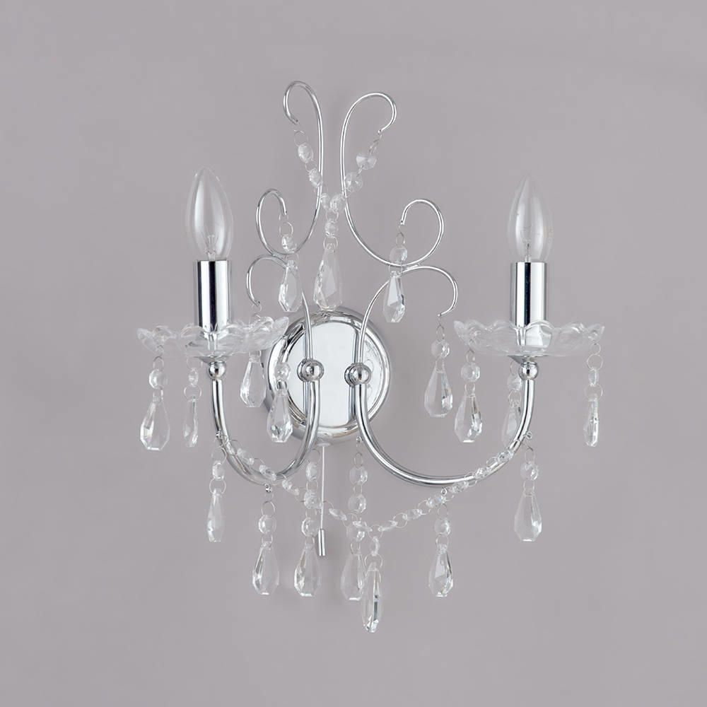 Madonna Wall Light - 2 Light - Chrome from Litecraft