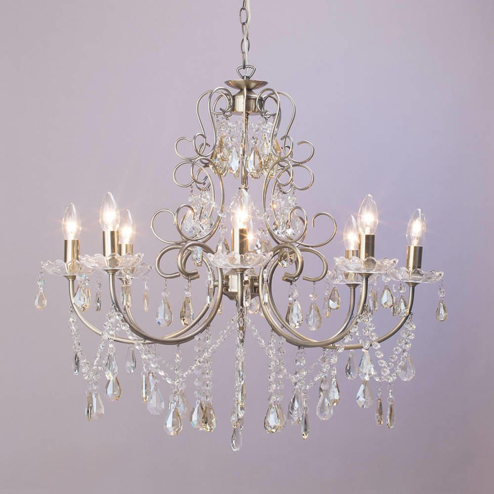 Madonna 8 Light Dual Mount Chandelier Antique Brass From