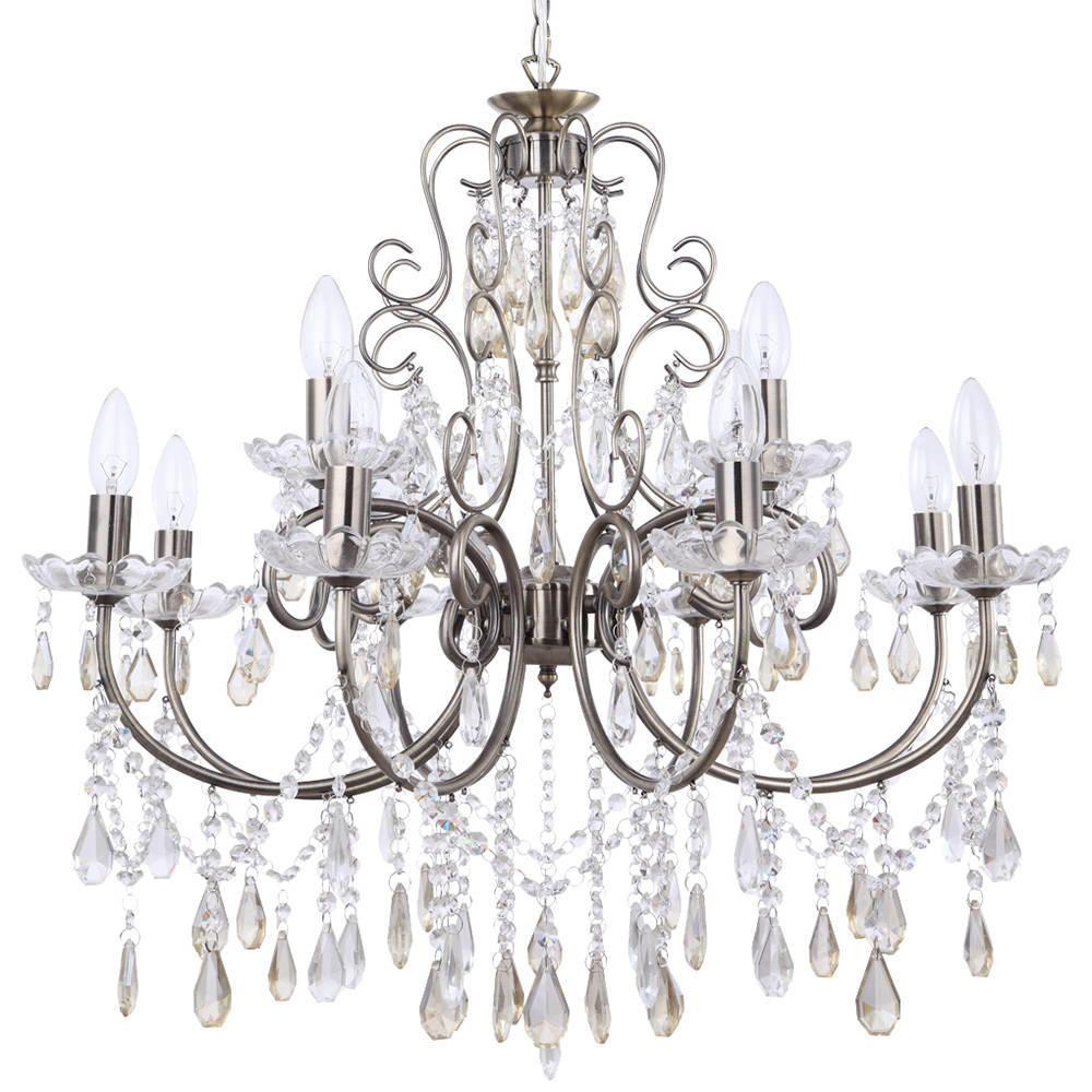 Madonna Chandelier 12 Light Dual Mount  Antique Brass