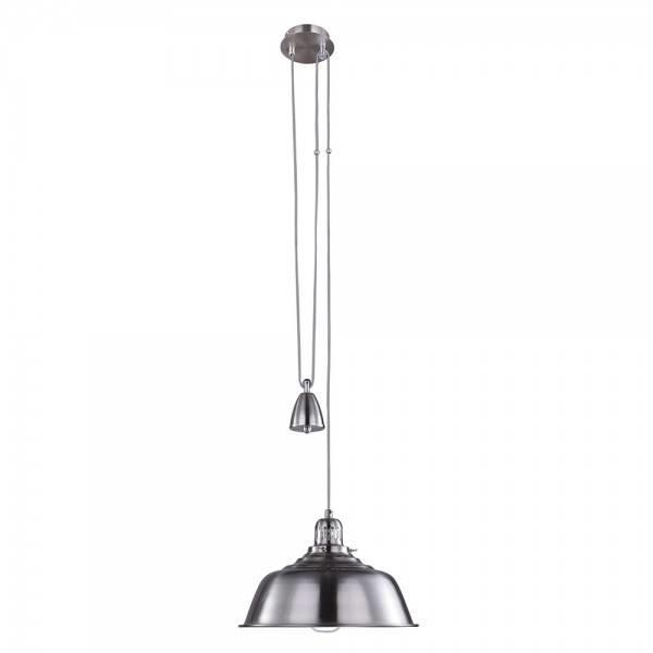Fisherman Rise and Fall Pendant Light - Satin Chrome from Litecraft