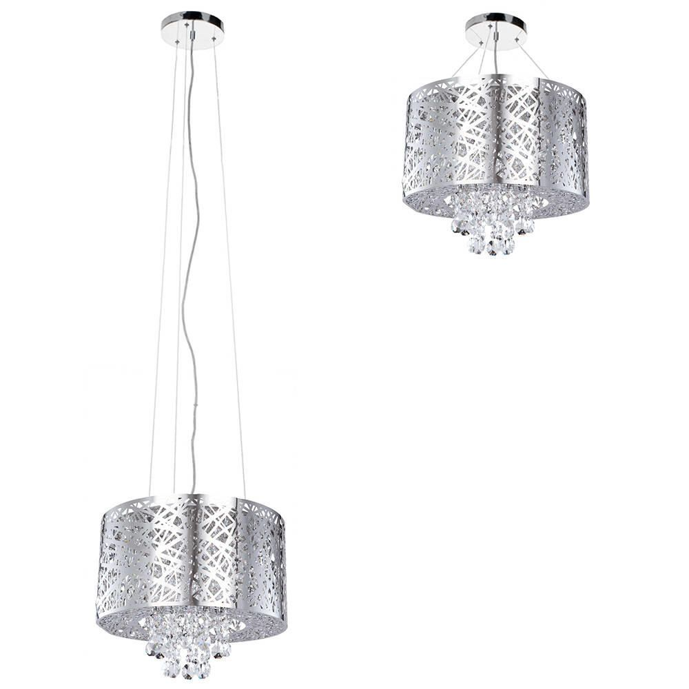 Pendant ceiling light ashley dual mount chrome drum with 6 bulbs c01 lc1987 adjustable height beautiful statement chrome drum chandelier pendant aloadofball Image collections