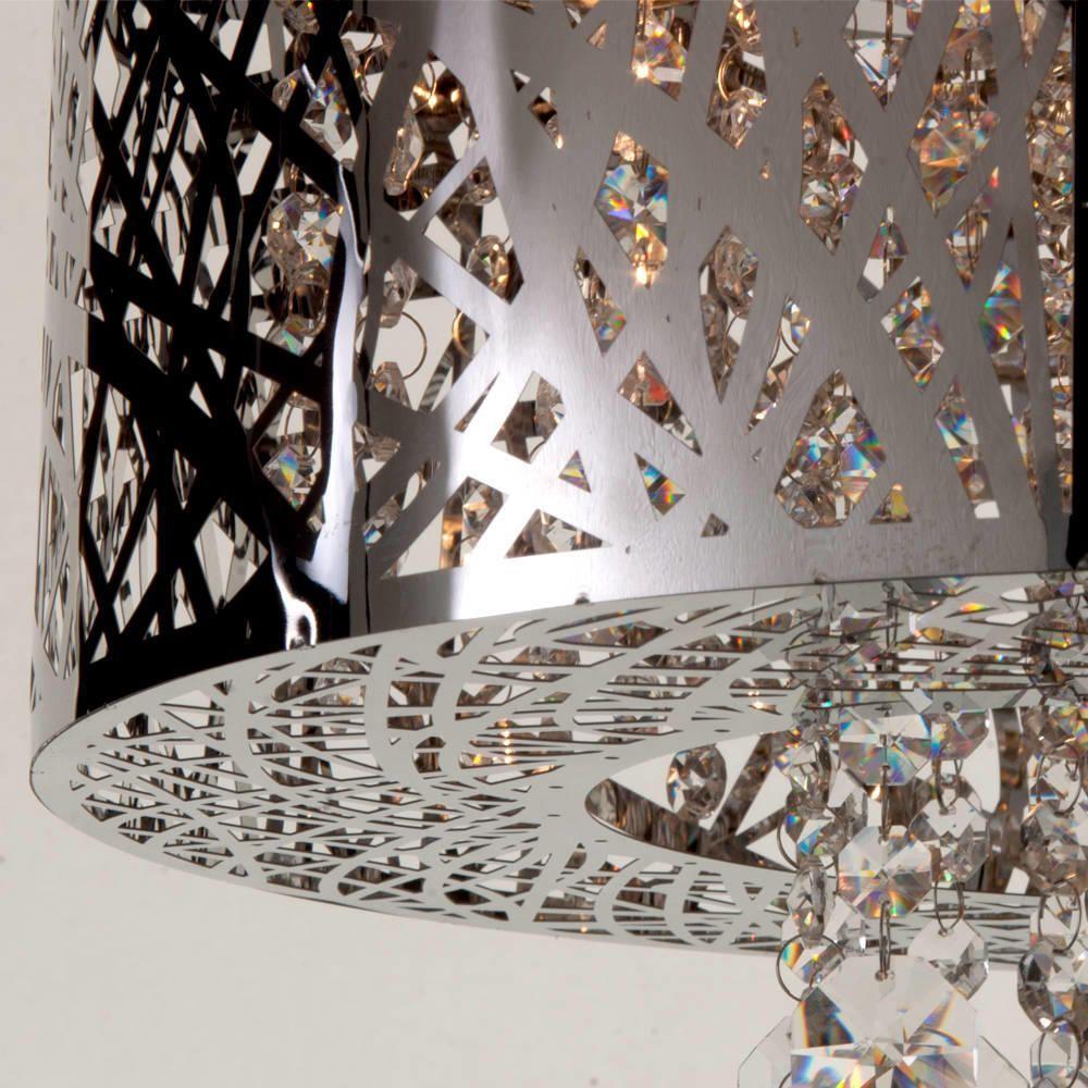 Metal pendant light shades uk  sc 1 st  Litecraft & Ashley Pendant Dual Mount Ceiling Light 6 Bulb - Chrome azcodes.com