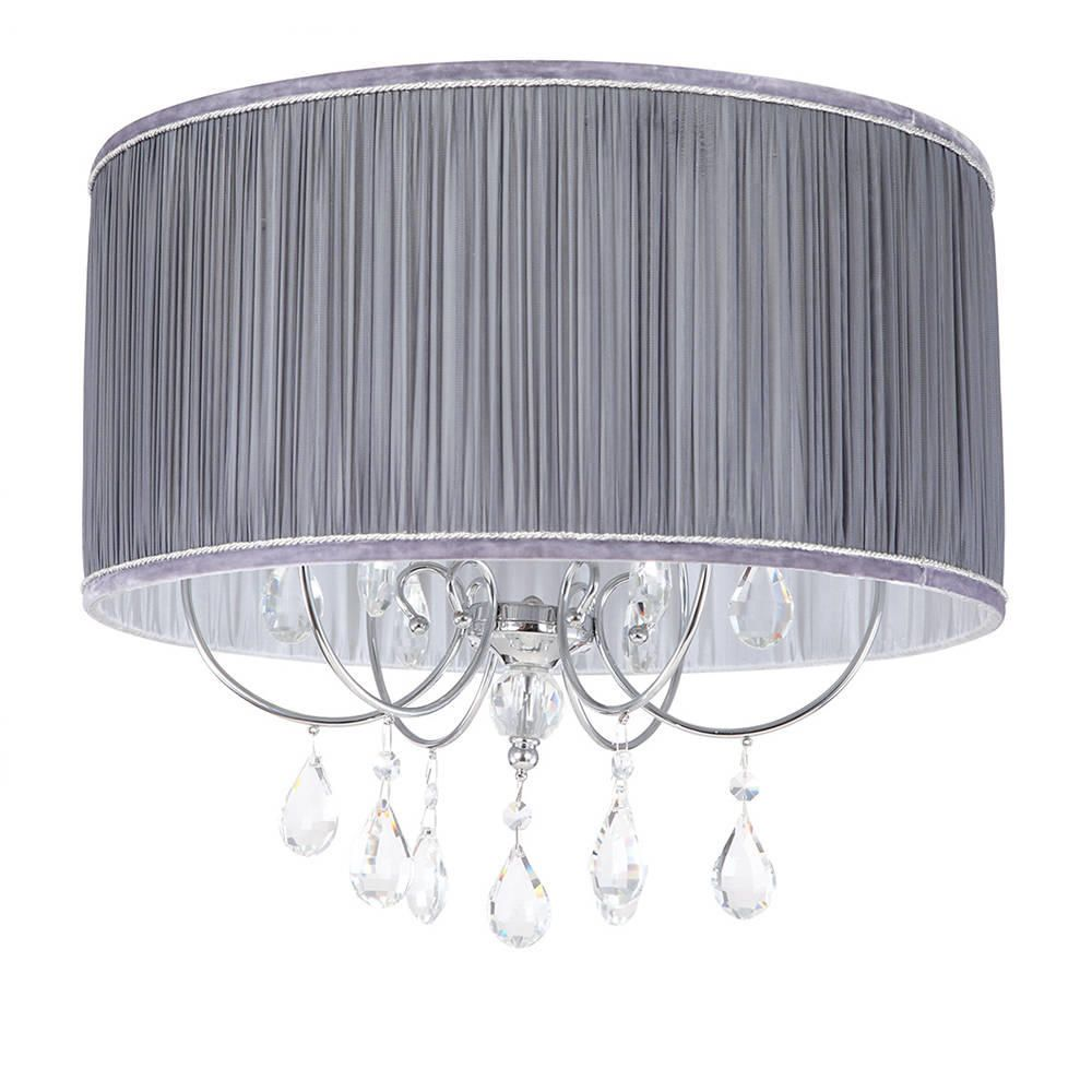 Lamour easy fit shade grey from litecraft fit light shade fastfree delivery aloadofball Image collections