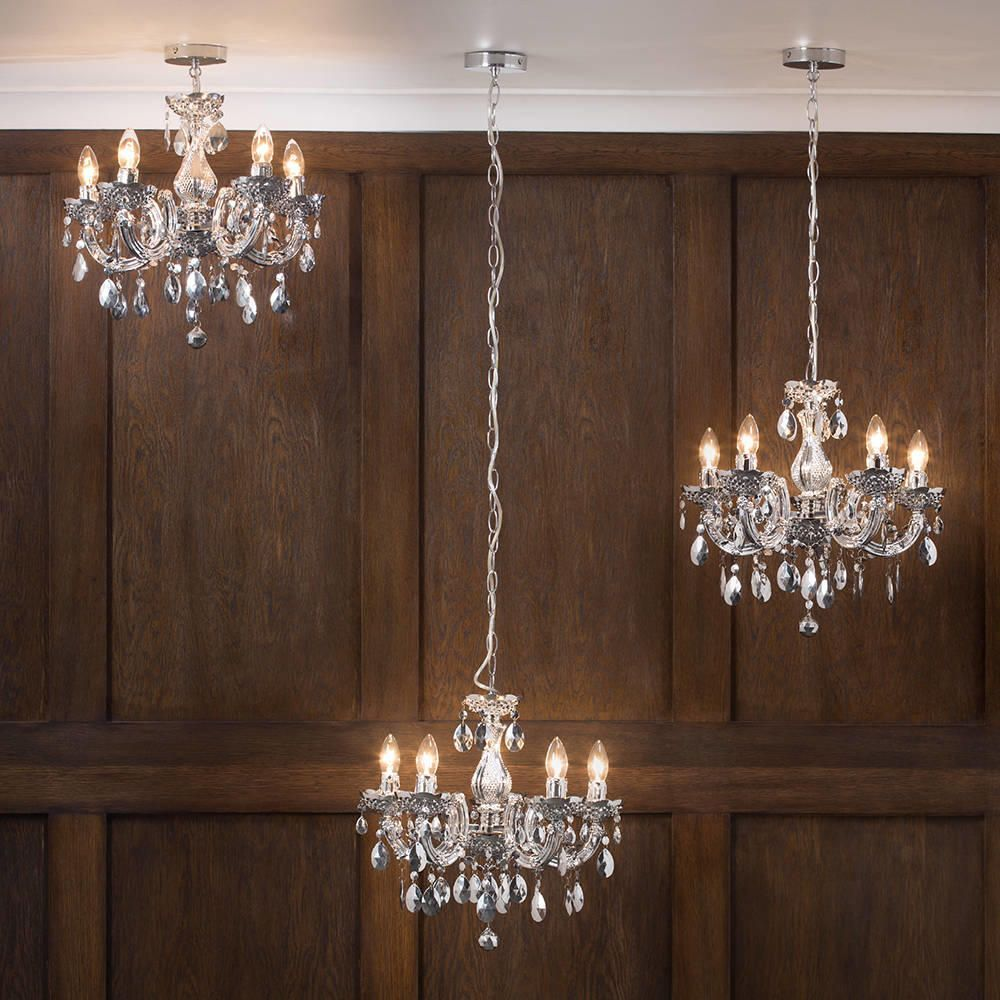 Marie therese chandelier 5 light dual mount silver from litecraft adjustable chain length chandeliers arubaitofo Gallery