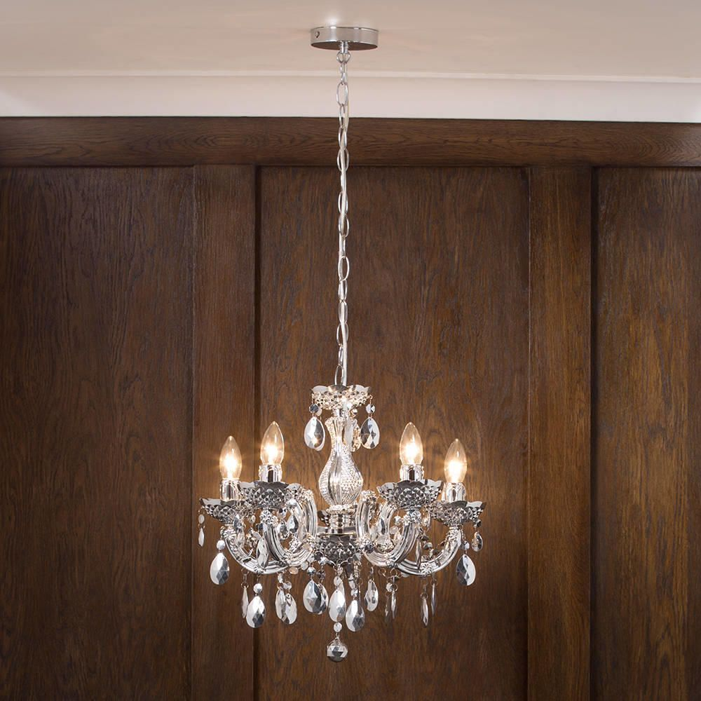 marie therese chandelier 5 light dual mount silver from litecraft