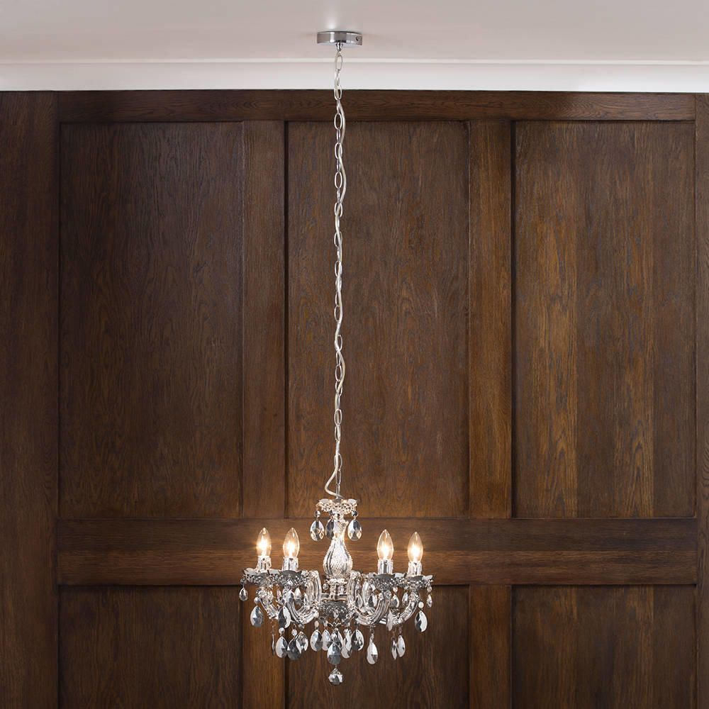 Marie therese chandelier 5 light dual mount silver from litecraft long chain silver chandeliers aloadofball Choice Image