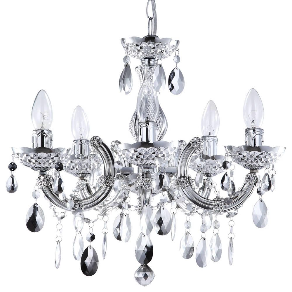 marie therese chandelier  light dual mount  silver from litecraft - free delivery
