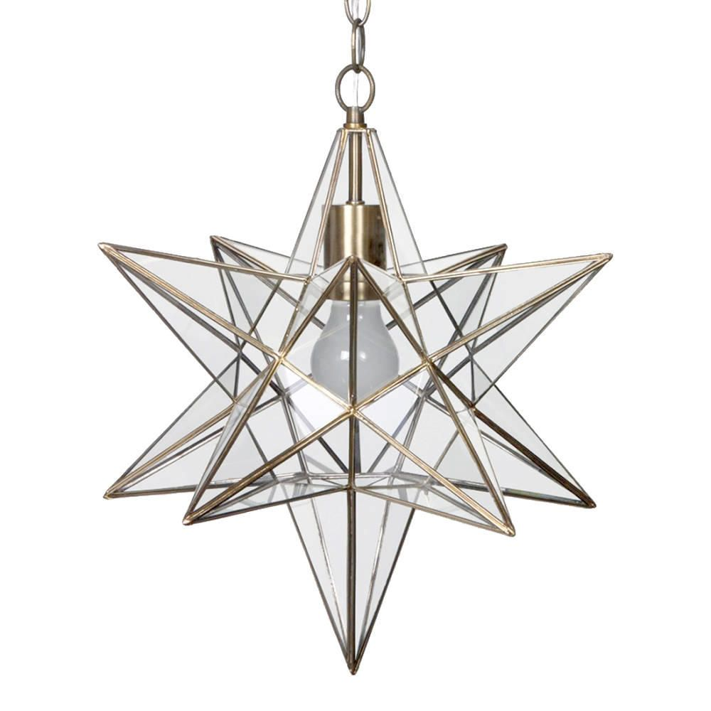 Star shaped hanging pendant antique brass decorative ceiling light star shaped hanging pendant antique brass decorative ceiling light litecraft mozeypictures Choice Image