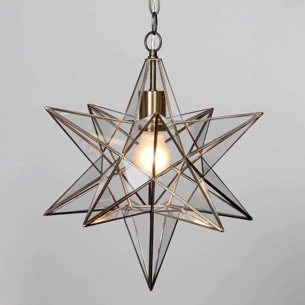 Star Shaped Hanging Pendant Antique Brass Decorative Ceiling Light Litecraft & Star Shaped Hanging Pendant Antique Brass Decorative Ceiling Light ... azcodes.com