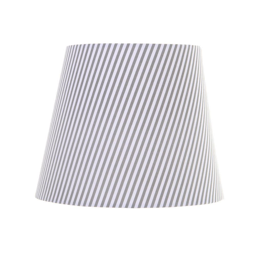 Grey striped easy fit shade from litecraft black white striped pattern table lamp shade fastfree delivery mozeypictures Image collections