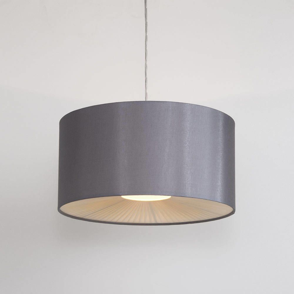 Small ribbon easy to fit ceiling shade drum grey from litecraft ceiling light shades online aloadofball Images
