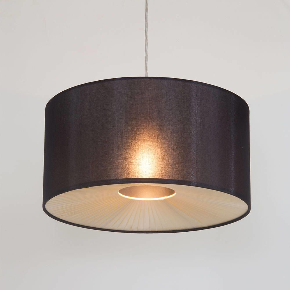 Easy Ceiling Lamp Shade: Small Ribbon Easy To Fit Ceiling Shade Drum