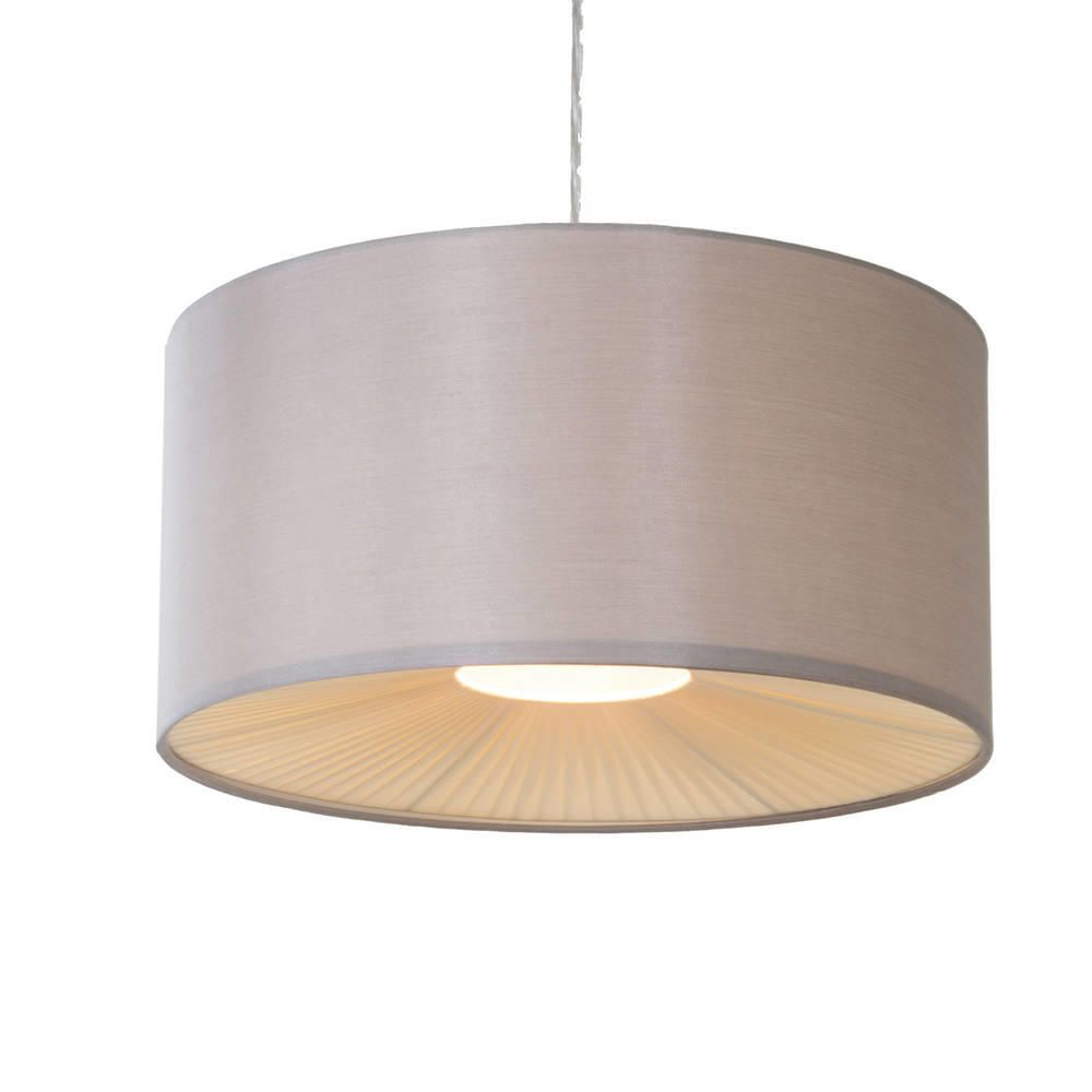 Easy to fit glass pleated ceiling light shades store litecraft c01 lc2046 ceiling light shade mocha mozeypictures Choice Image