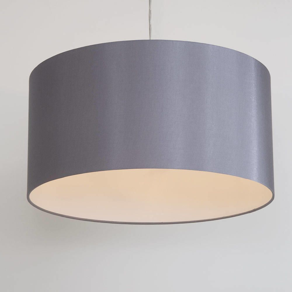 Large ribbon easy to fit ceiling shade drum grey from litecraft fabric ceiling light shades aloadofball Gallery
