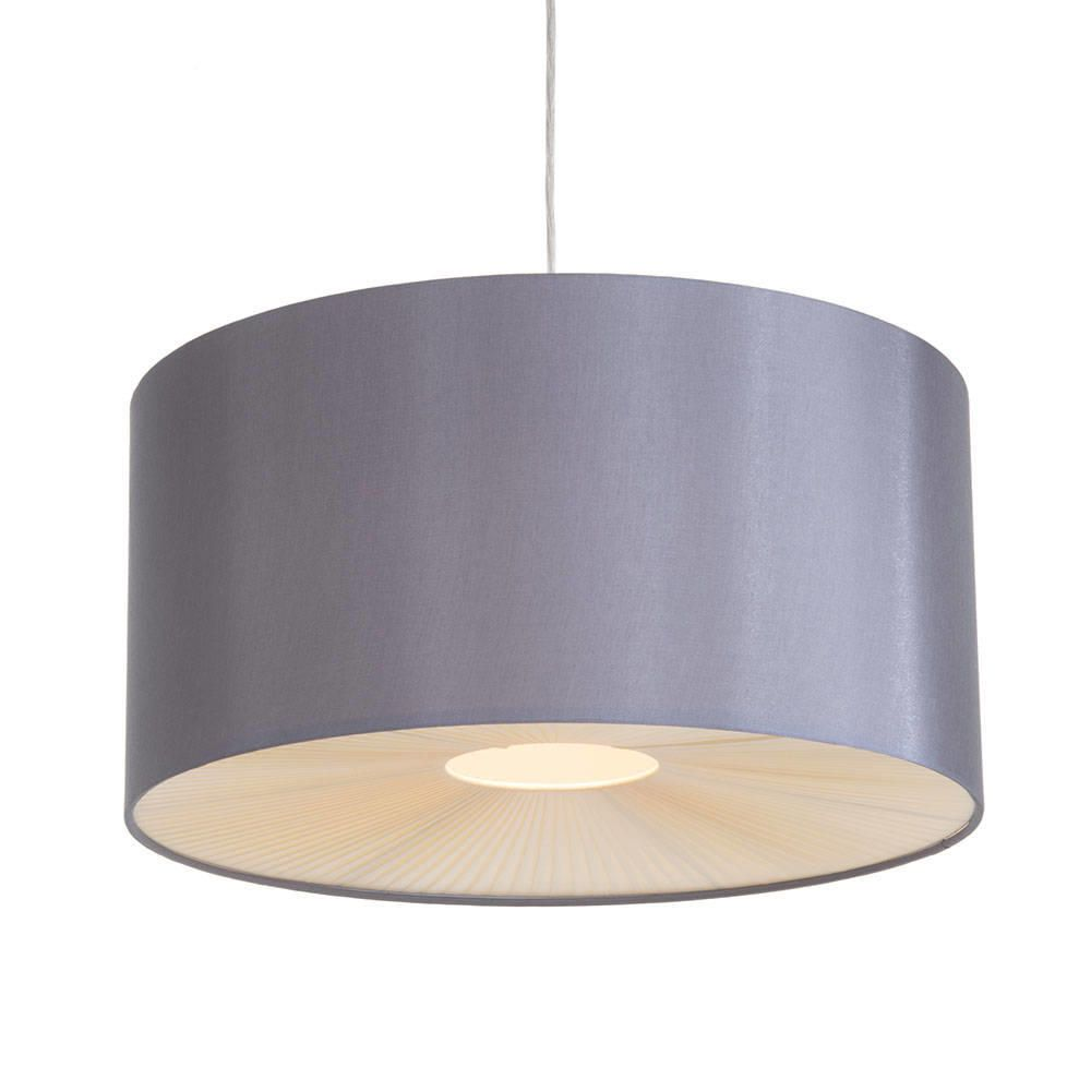 Large ribbon easy to fit ceiling shade drum grey from litecraft ceiling light shade easy fit fastfree delivery aloadofball Image collections