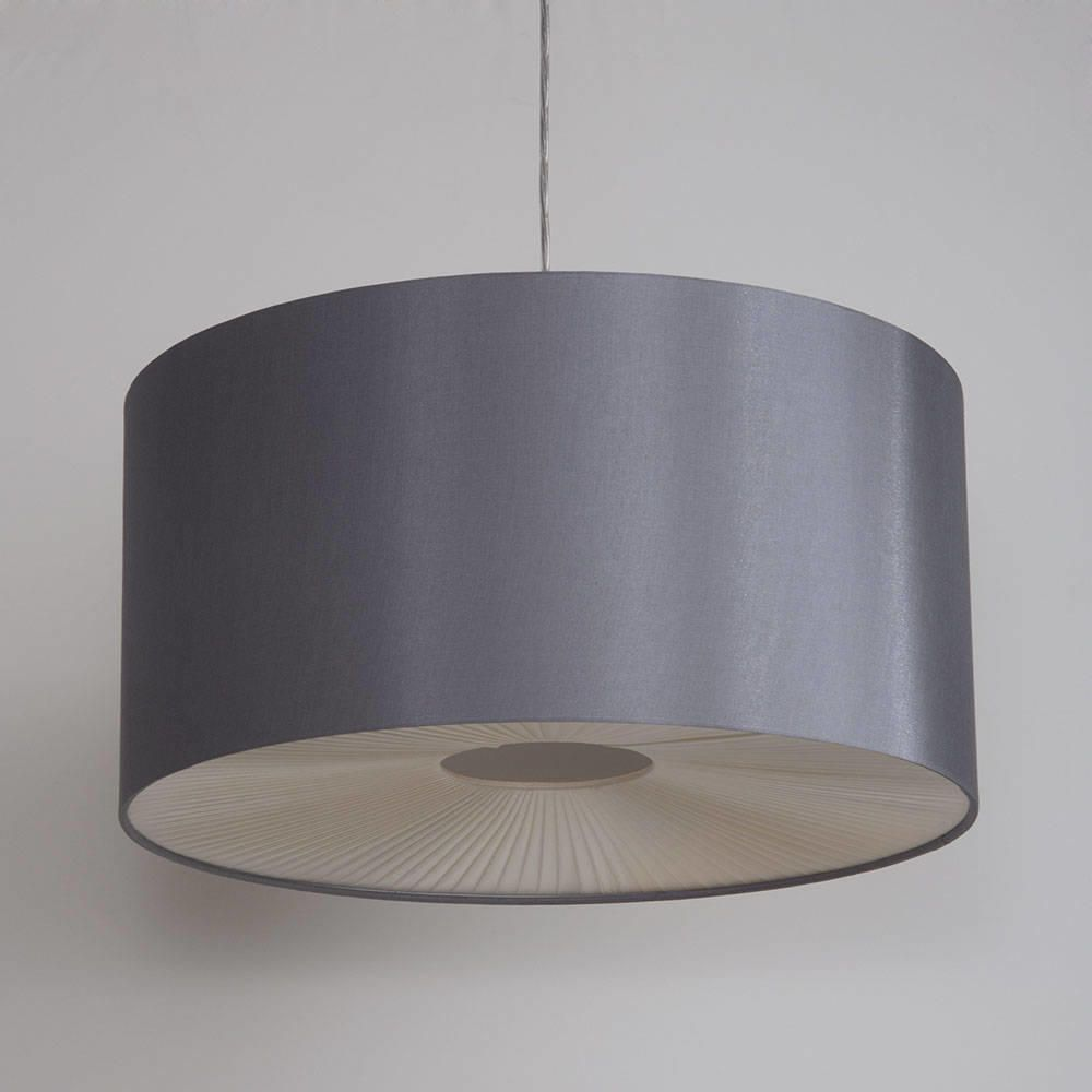 Large ribbon easy to fit ceiling shade drum grey from litecraft large light shades mozeypictures Choice Image