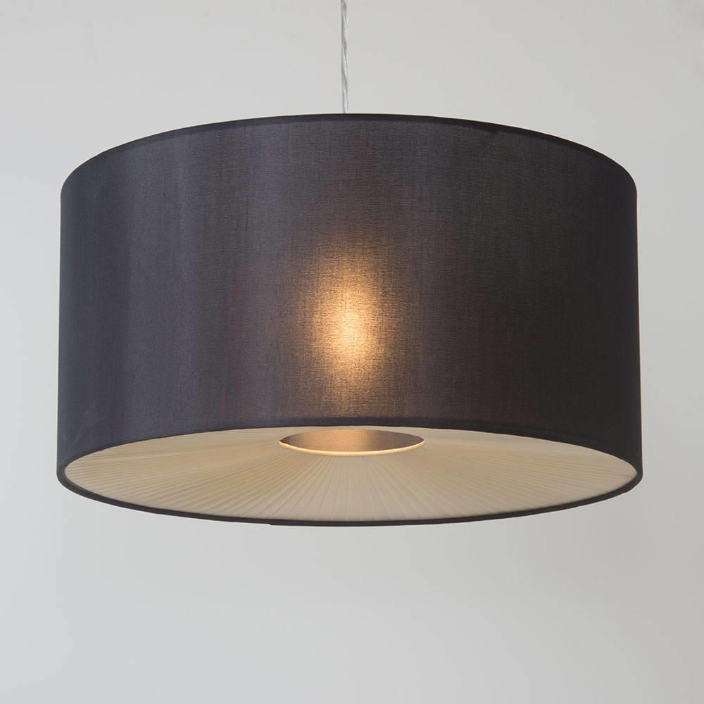 Easy Ceiling Lamp Shade: Large Ribbon Drum Easy To Fit Ceiling Shade