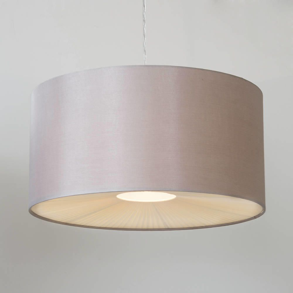 Large Ribbon Easy To Fit Ceiling Shade Drum Mocha From
