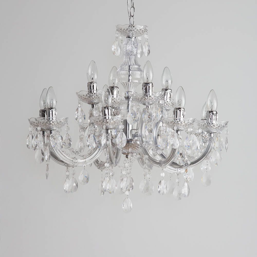 Marie Therese Chandelier 12 Light Chandelier Chrome from Litecraft – Where Can I Buy a Chandelier