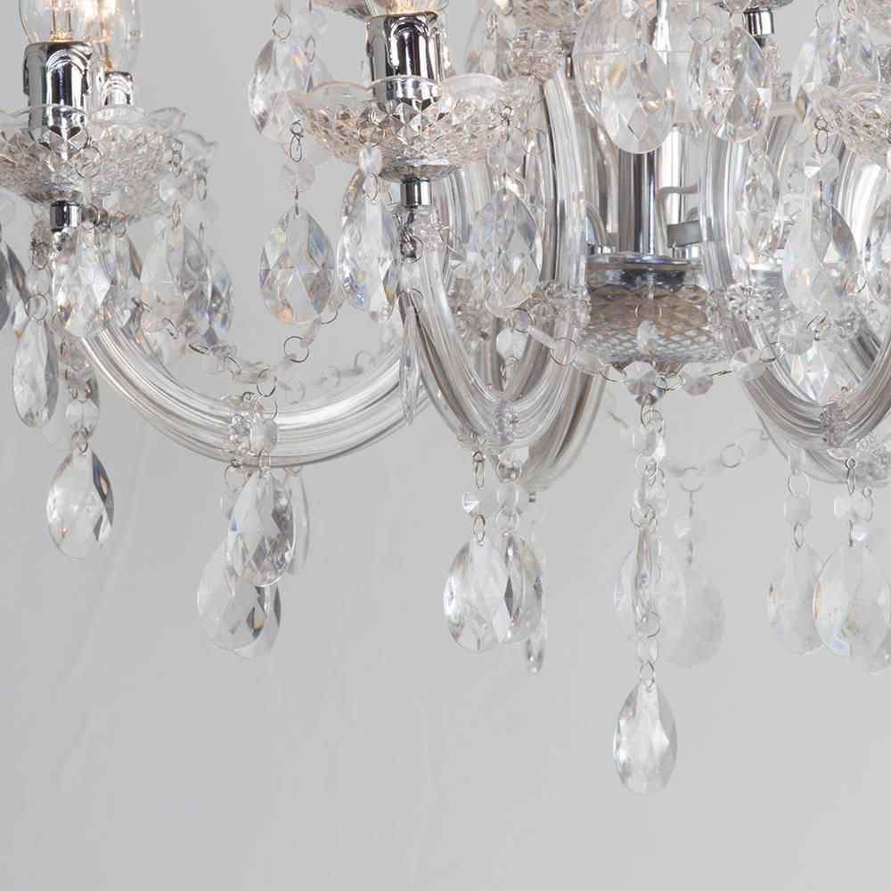 Marie Therese Wall Lights Chrome : Marie Therese Chandelier 12 Light Chandelier - Chrome from Litecraft