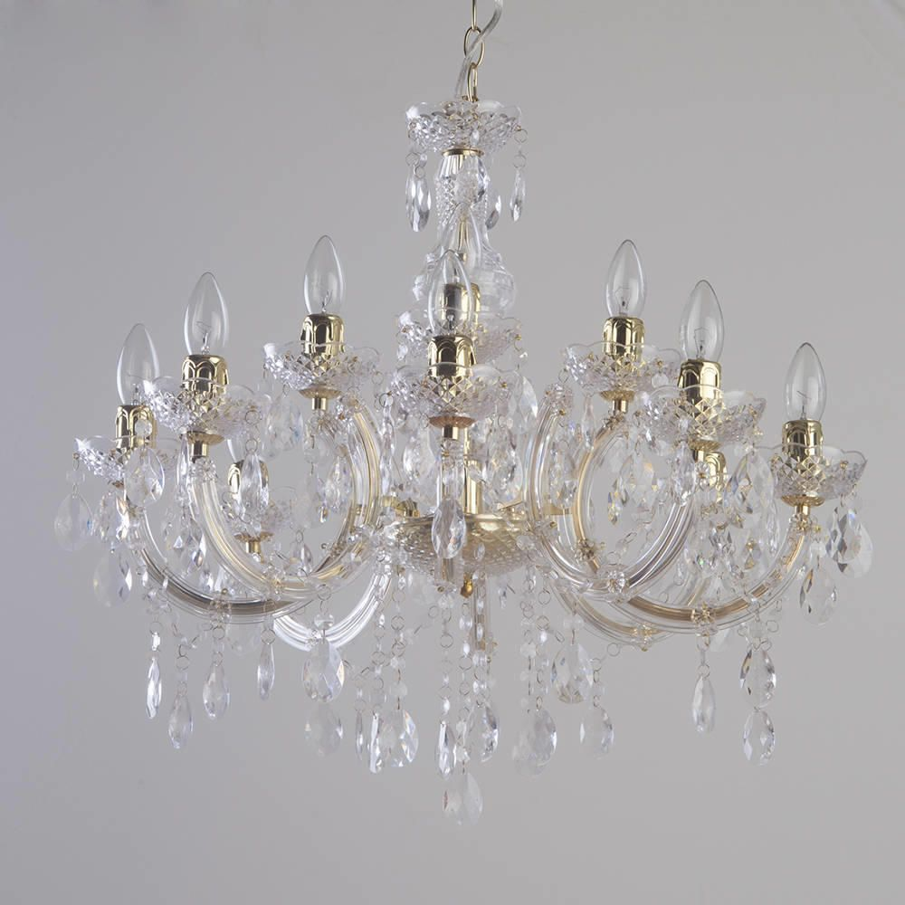 Marie therese 12 light dual mount chandelier gold from litecraft decorative crystal chandeliers uk aloadofball Choice Image