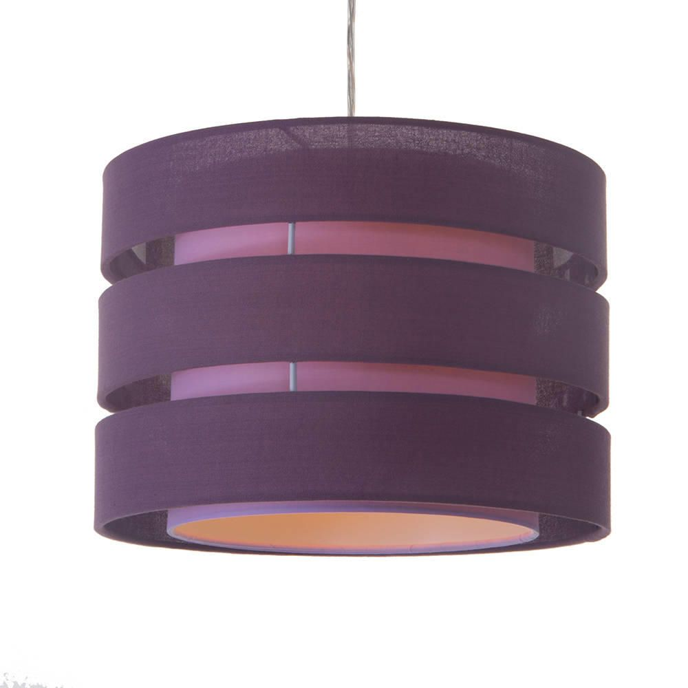 All lamp shades table ceiling floor light shades store litecraft c01 lc2071 tiered retro easy fit light shade plum mozeypictures Images