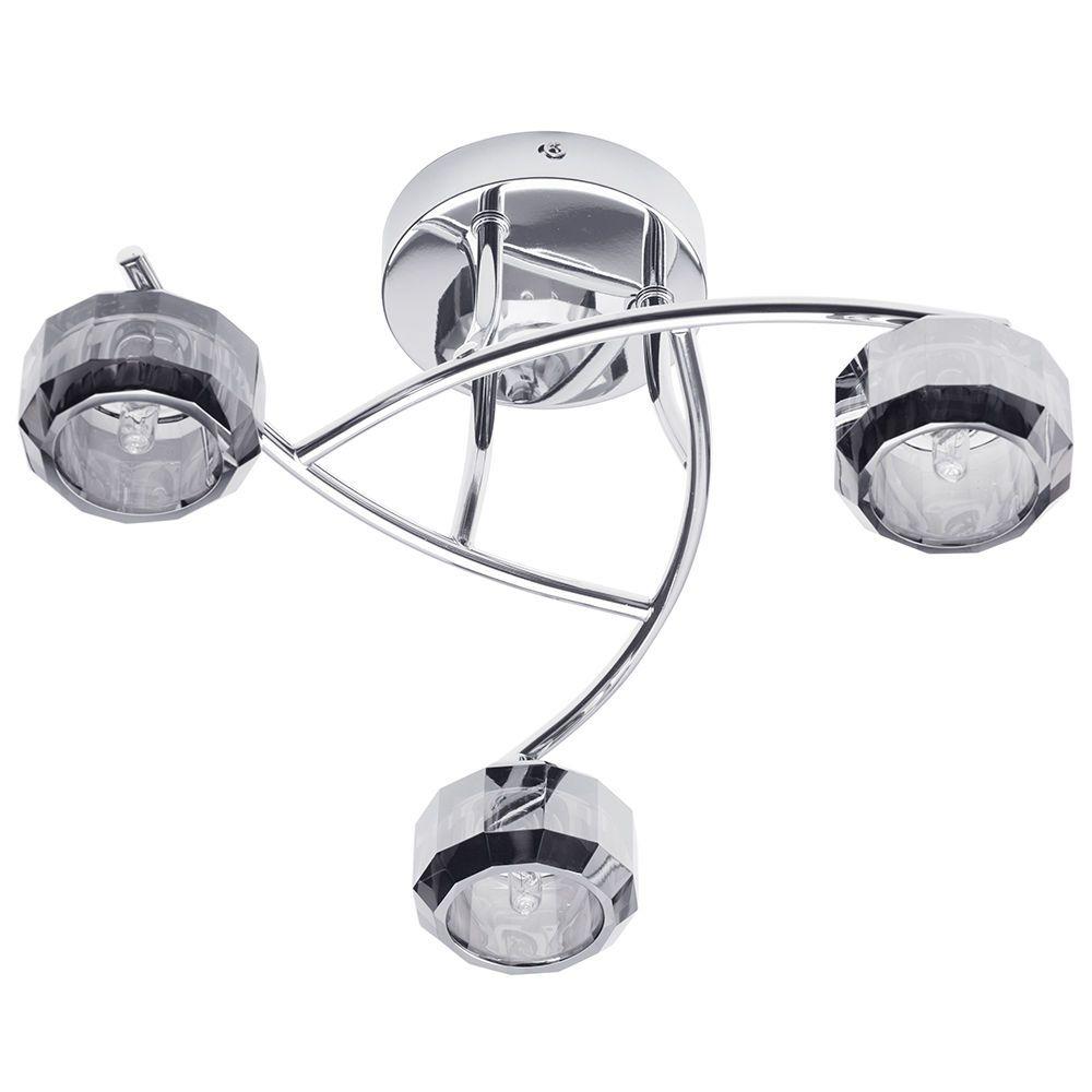 sammi  light flush ceiling light  chrome from litecraft - free delivery