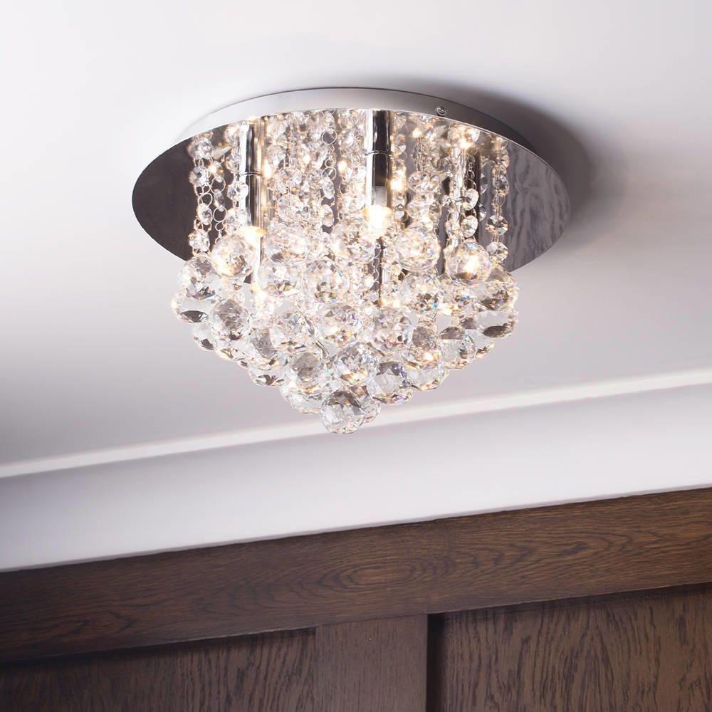 Flush Ceiling Light G9 Galaxy Chrome From Litecraft