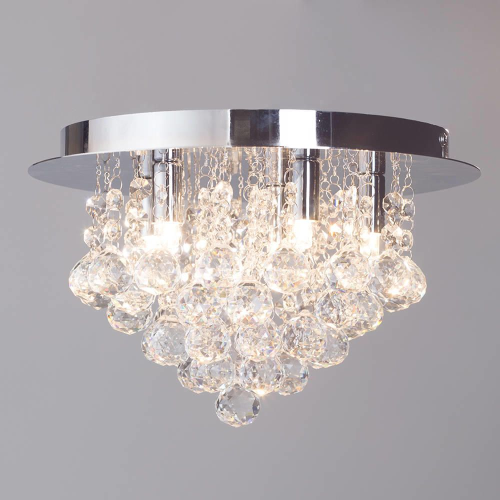Ceiling Lights With G9 Bulbs : G galaxy flush ceiling light chrome from litecraft
