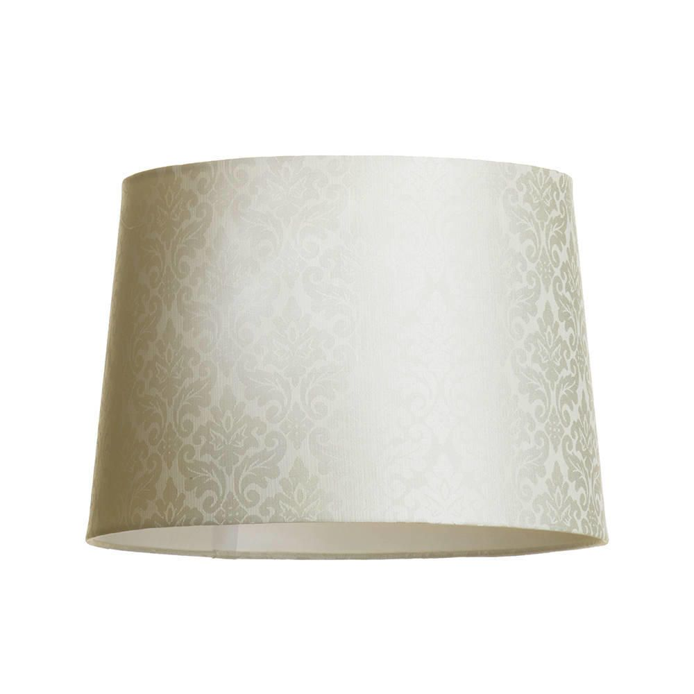 Litecraft Damask Print Easy to Fit Light Shade Cylinder - Ivory