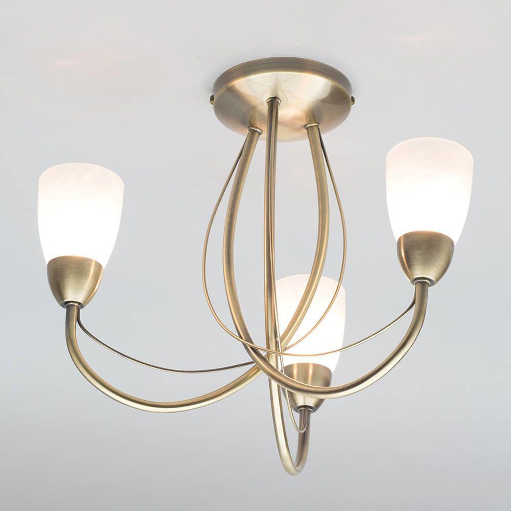 Madrid semi flush ceiling light 3 light antique brass antique brass ceiling lights mozeypictures Choice Image