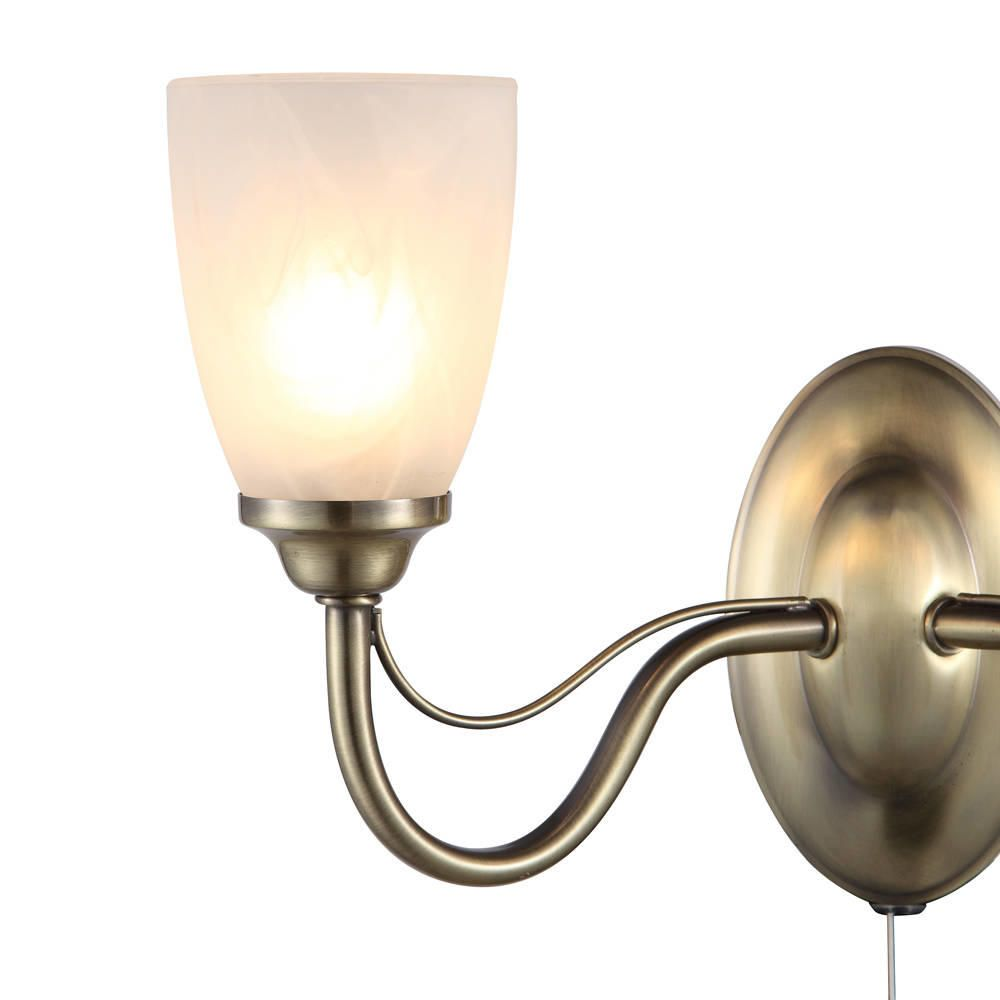 Madrid wall light 2 light antique brass from litecraft traditional style wall lights aloadofball Image collections