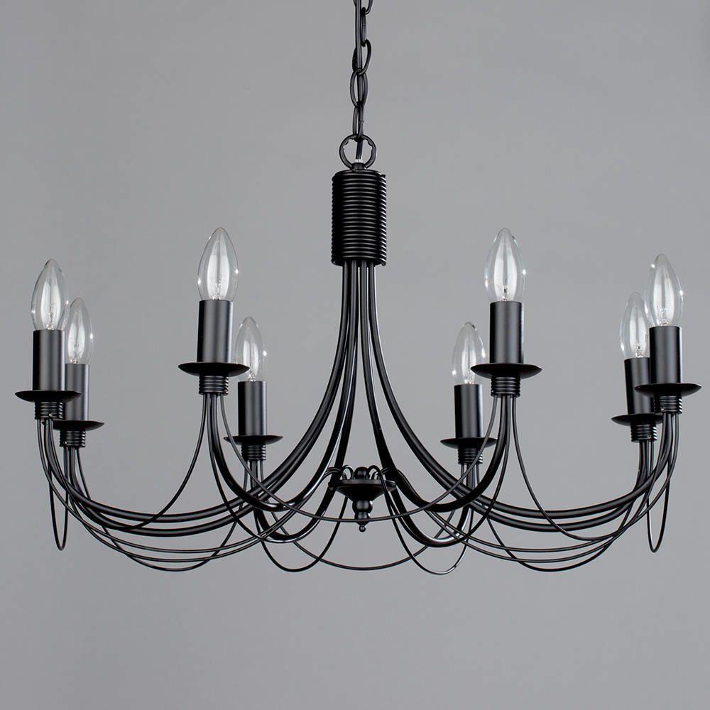 Black chandelier somerset 8 light from litecraft black industrial style 8 light chandelier aloadofball Gallery