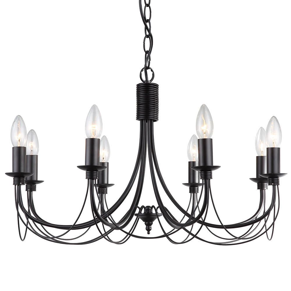 Black chandelier somerset 8 light from litecraft fastfree delivery aloadofball Gallery