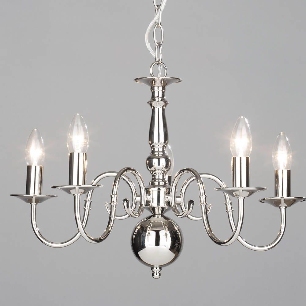lyon chandelier flemish  light  polished nickel from litecraft - chandelier  dining room centrepiece