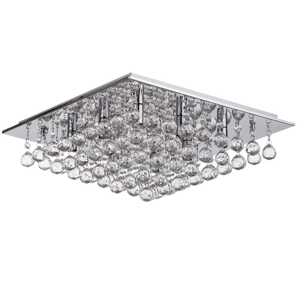 Galaxy Flush Ceiling Light 8 Light Chrome From Litecraft