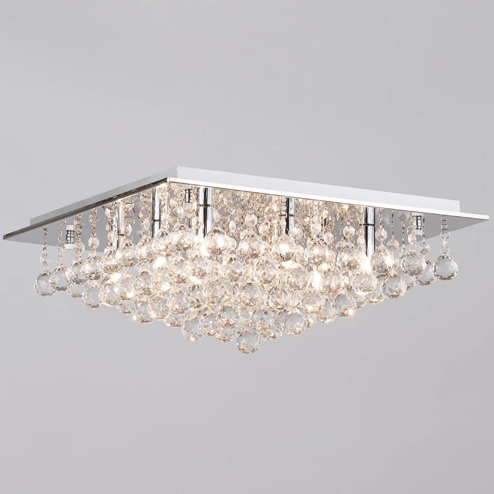 Galaxy flush ceiling light 8 light chrome from litecraft low ceiling glitz glamour glam ceiling light aloadofball Gallery