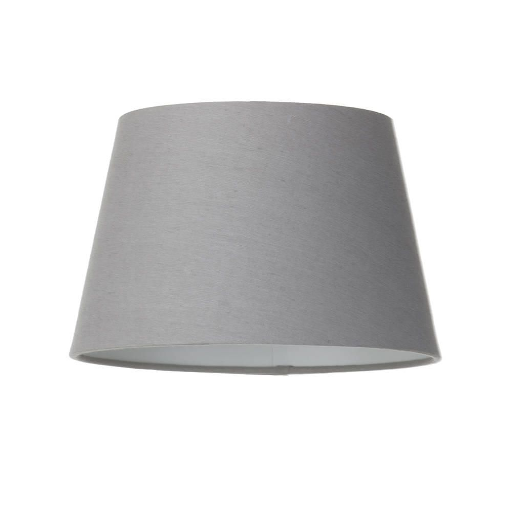 Soft Cotton Easy To Fit 25cm Lamp Shade Grey From Litecraft