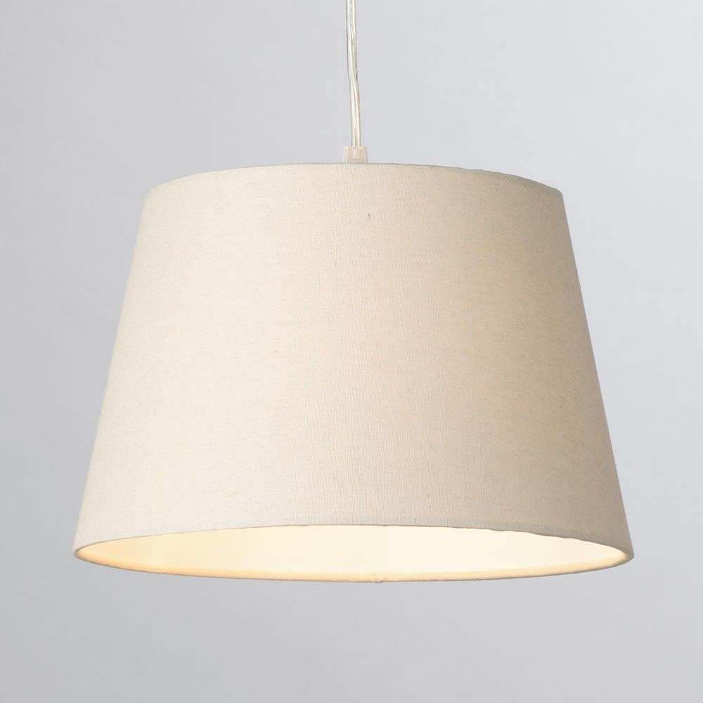Soft Cotton Easy To Fit 30cm Lamp Shade Mocha From Litecraft