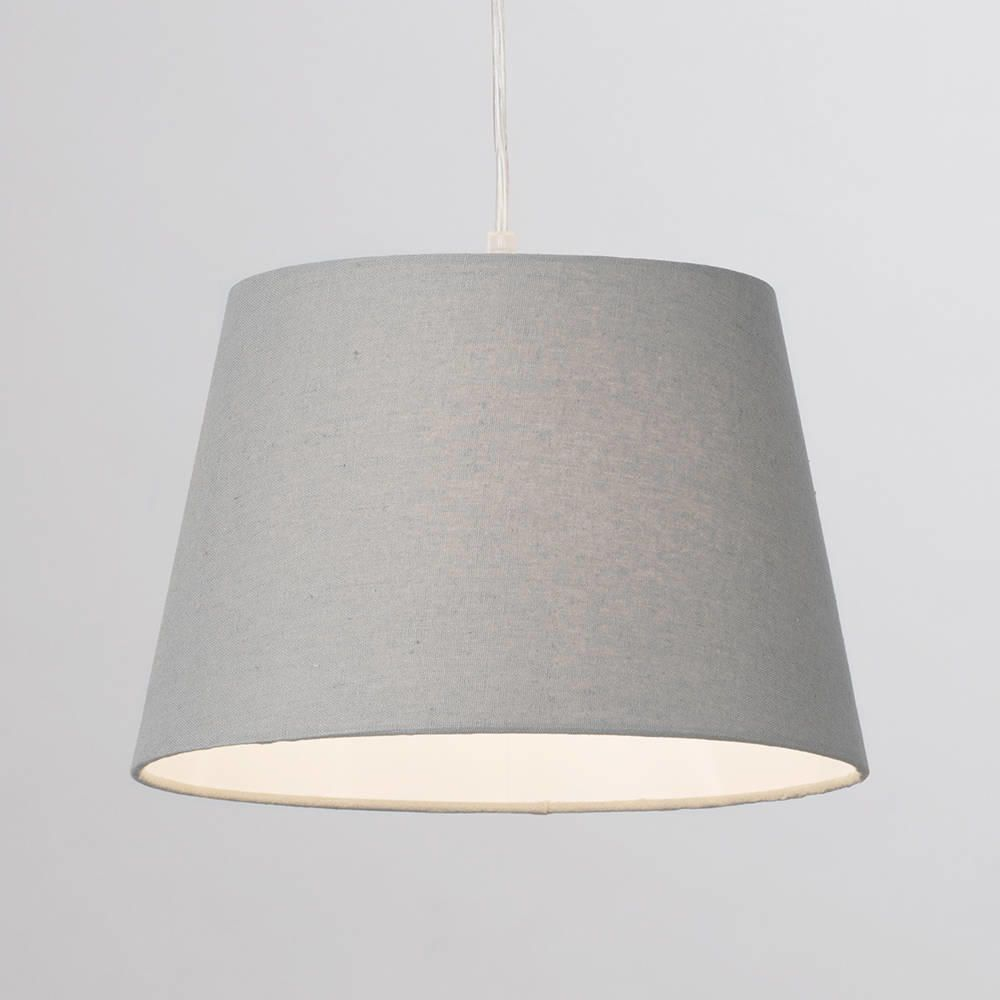 Soft Cotton Easy To Fit 30cm Lamp Shade Grey From Litecraft