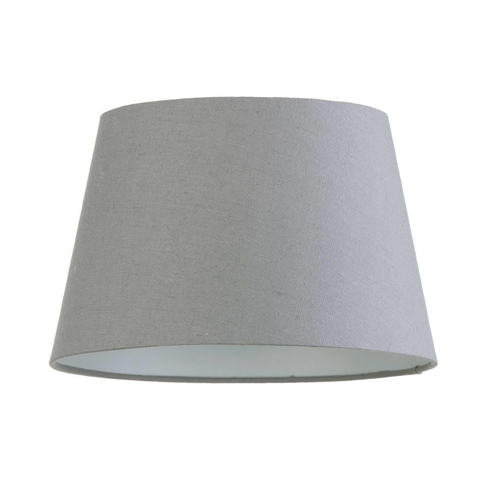 Soft cotton easy to fit 30cm lamp shade grey from litecraft fit 30cm lamp shade grey fastfree delivery aloadofball Choice Image
