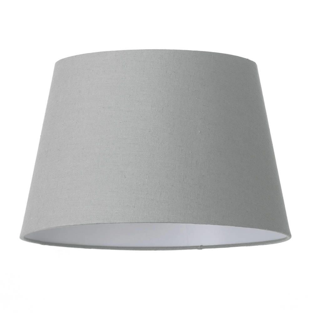 Soft Cotton Easy To Fit 35cm Lamp Shade Grey From Litecraft