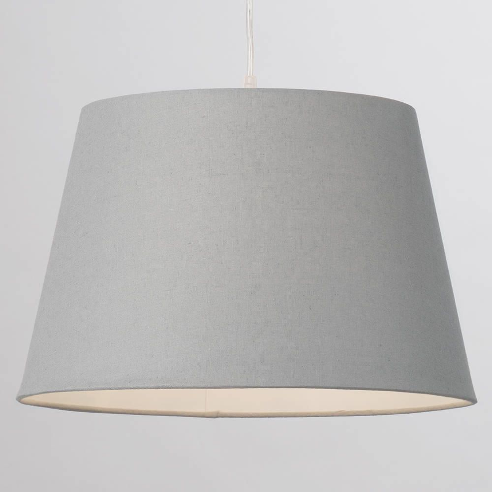 Soft Cotton Easy To Fit 40cm Lamp Shade Grey From Litecraft