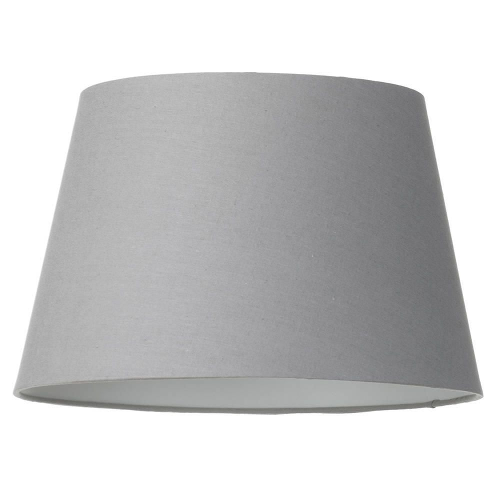 Soft cotton easy to fit 40cm lamp shade grey from litecraft fit 40cm lamp shade grey fastfree delivery aloadofball Image collections
