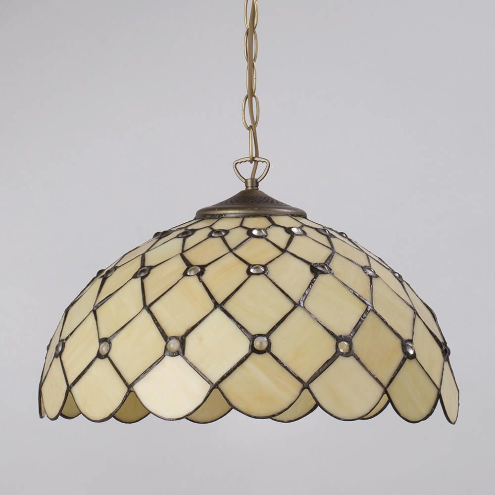 Tiffany pendant ceiling light with shade jewel 16 inch honey stained glass ceiling shade light medium mozeypictures Choice Image