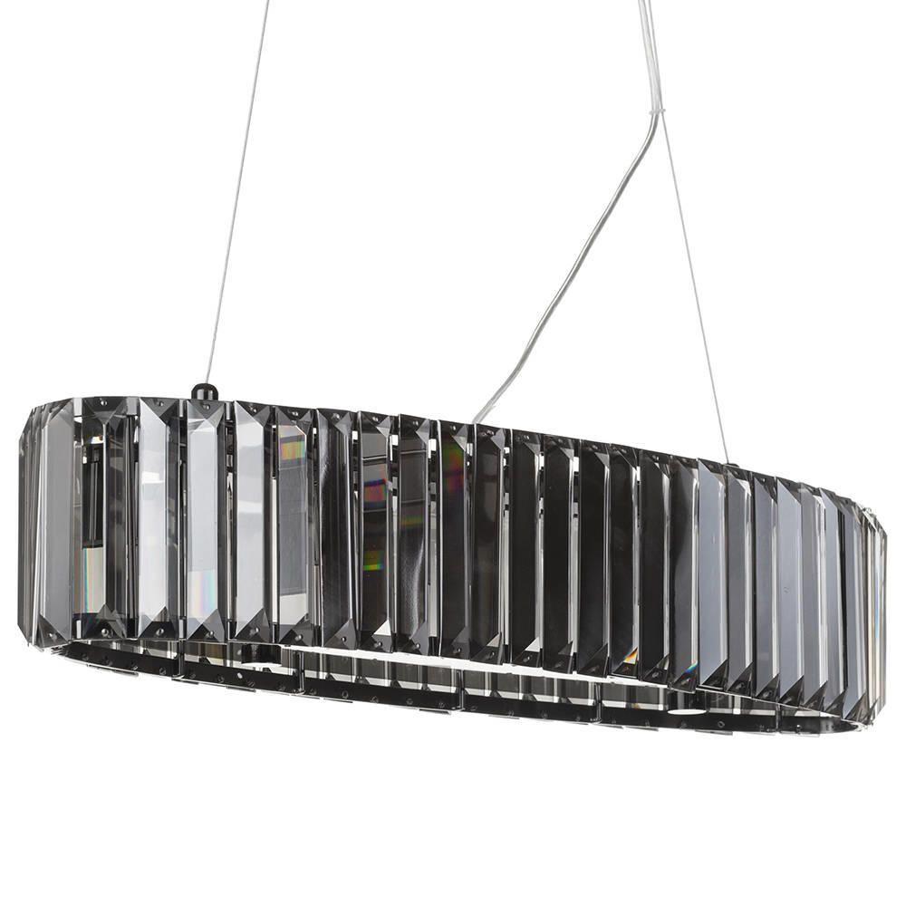 5 Light Chisel Prism Bar Ceiling Pendant Smoke